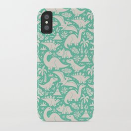 Delightful Dinos (teal) iPhone Case