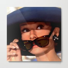 Audrey Hepburn #1 @ Breakfast at Tiffany's Metal Print