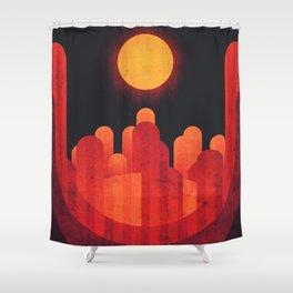 Mercury - Weird Terrain Shower Curtain