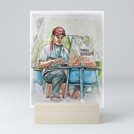 Seller/ Penjual Tahu Gejrot Mini Art Print
