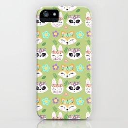 Woodland Animals Green Forest iPhone Case
