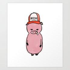 This Little Piggy Wears a Hat Art Print
