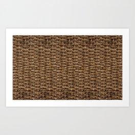 Natural Rustic Fibers - 2  Art Print