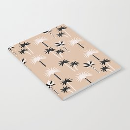 Palm Trees - Neutral Black & White Notebook
