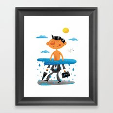 Walk on the Bright Side Framed Art Print