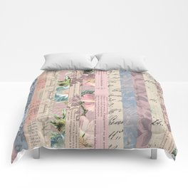 Vintage Shabby Florals Comforters