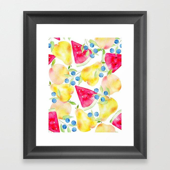 Fruit Cocktail Gerahmter Kunstdruck