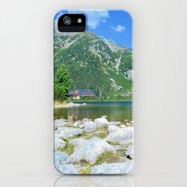 Lake Popradske pleso iPhone Case