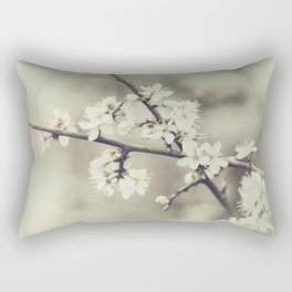 crossed blossoms Rectangular Pillow