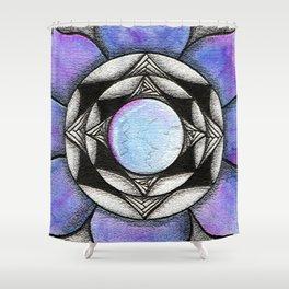 Doodled Gem Bloom Shower Curtain