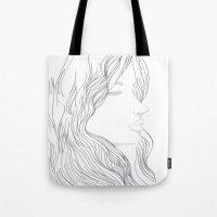 art nouveau Tote Bags featuring Art Nouveau by YriArt