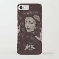 lorde iPhone & iPod Cases featuring Ella by Helen Green