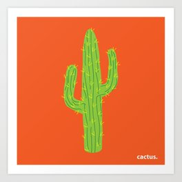 Cactus. Art Print