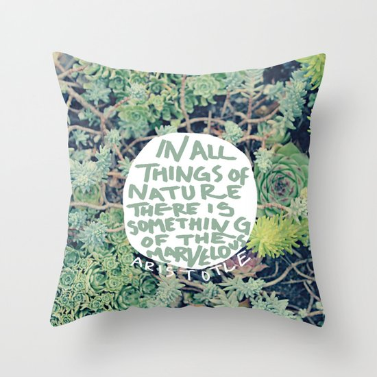Aristotle: Nature Throw Pillow