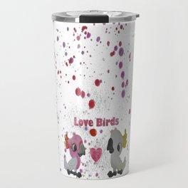 Love Birds - Cockatoos in Love Travel Mug