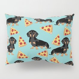 dachshund pizza black and tan doxie dog breed cute pattern gifts Pillow Sham