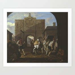 William Hogarth , O the Roast Beef of Old England ('The Gate of Calais') 1748 Art Print