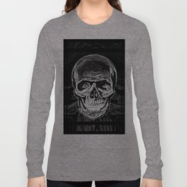 Skull (Black and White) Long Sleeve T-shirt
