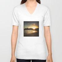 brasil V-neck T-shirts featuring Rio de Janeiro - Brasil  by Claudia Araujo