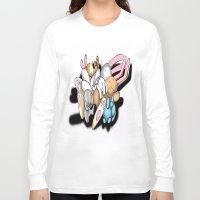 rabbits Long Sleeve T-shirts featuring Rabbits by kyleray3000