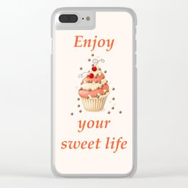 cupcake with currant Clear iPhone Case