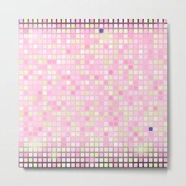 Abstract pink mosaic pattern Metal Print