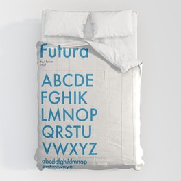 Futura Typography Poster Comforters