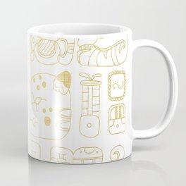 Mayan Glyphs - gold palette Coffee Mug