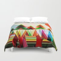 camouflage Duvet Covers featuring Camouflage by milanova