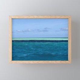 Fijian Blue Framed Mini Art Print