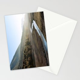 Barrea lake without water, Abruzzo National Park, Italy Stationery Cards