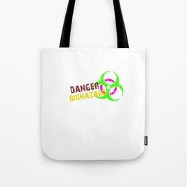 Danger Biohazard Tote Bag
