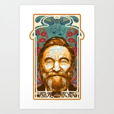 Robin Williams Tribute Art Nouveau / Geek Poster / Fine Art Print Tribute by Tom Ryan's Studio Art Print