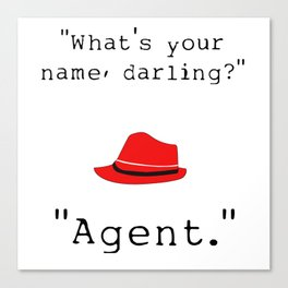 What's your name, darling? Canvas Print