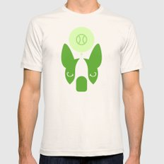 Boston Terrier Thoughts: Ball. SMALL Natural Mens Fitted Tee