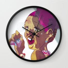 Beauty Sings into the Mike Wall Clock