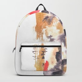 Watercolor Pink Black Flow | [dec-connect] 9. brewing Backpack