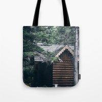 cabin Tote Bags featuring Cabin by Garrett Lockhart