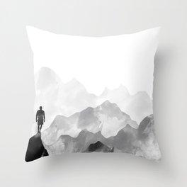 Top of the Mountain Throw Pillow