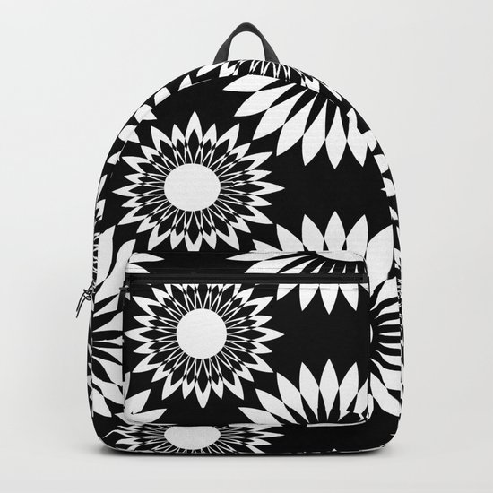 Black and white abstract pattern . 6 Backpack