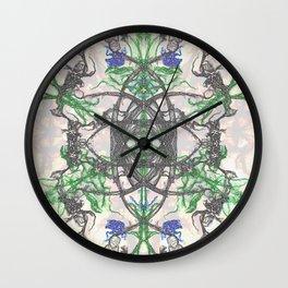Spiraling Leafs Wall Clock
