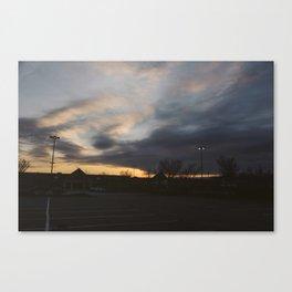 parking lot vibes Canvas Print