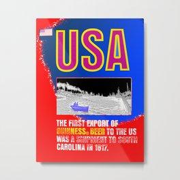 Pop art vintage USA beer poster - American flag - 1812 beer export shipment Metal Print