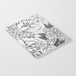 Butterfly and flowers Notebook