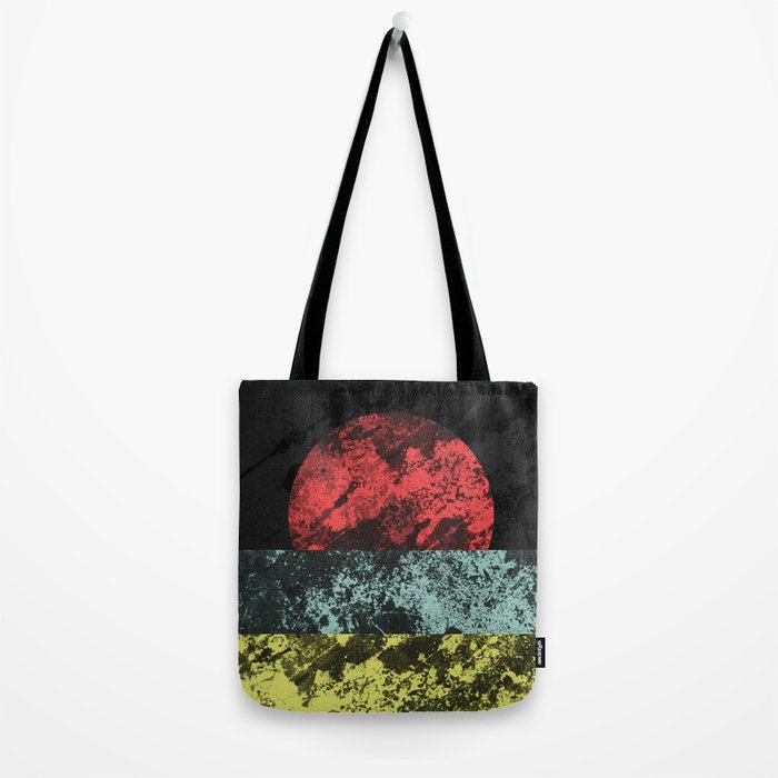 Sunset Beach - Abstract, marble effect, geometric painting Tote Bag
