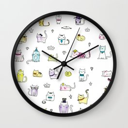 Cats in Couture Wall Clock