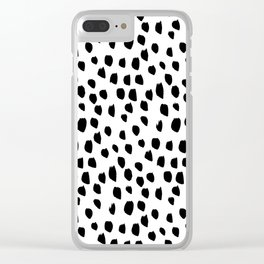 Hand drawn drops and dots on white - Mix & Match with Simplicty of life Clear iPhone Case