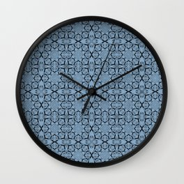 Airy Blue Geometric Wall Clock