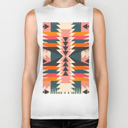 Colorful ethnic decoration Biker Tank