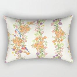Romantic Vintage Design of Birds & Flowers - Natural colorful Rectangular Pillow